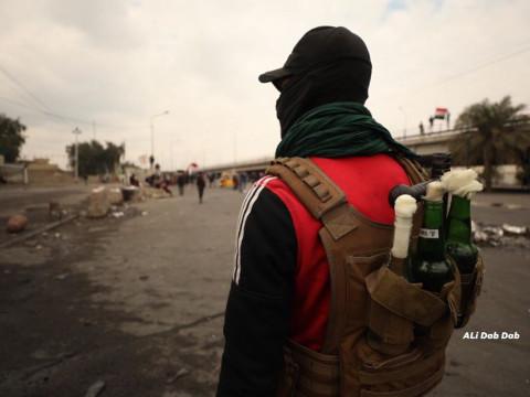 عمليات بغداد: مسلحون يستخدمون اسلحة كاتمة من داخل المتظاهرين في قرطبة