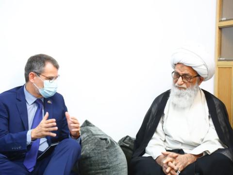 المرجع النجفي يبحث مع سفير الاتحاد الأوربي دعم العراق وتقديم الخبرات الأوربية